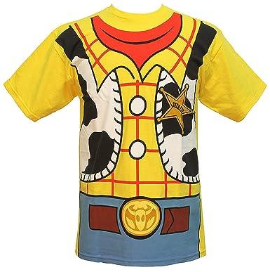 e4d146ca Amazon.com: Disney Pixar Toy Story Woody Cowboy Costume Adult T-Shirt Tee:  Clothing