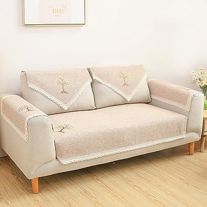 Nclon Tessuto Anti-slittamento Estate Copridivano,Asciugamano divano ...
