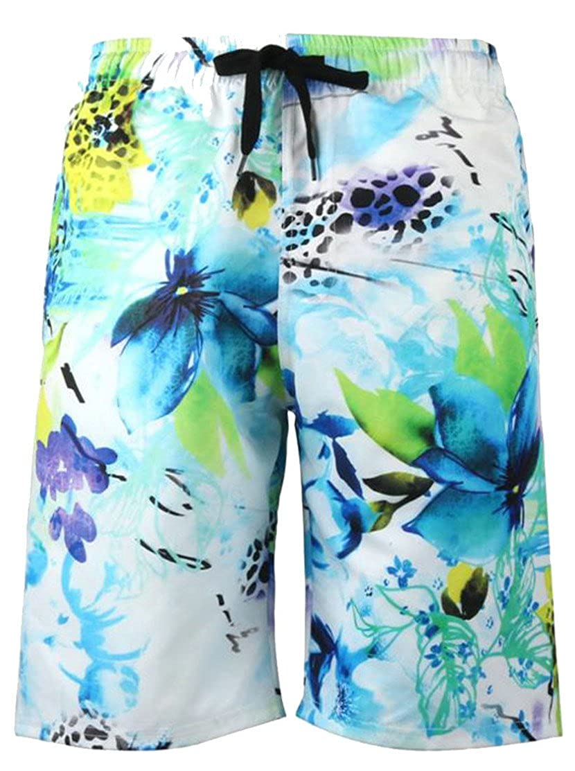 Big Tang Mens Swim Trunks Print Palm Tree Hawaii Surfing Beach Board Shorts