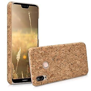 kwmobile Funda para Huawei P20 Lite - Carcasa Protectora de [Corcho] para teléfono móvil - Cover [Trasero] rígido y Resistente