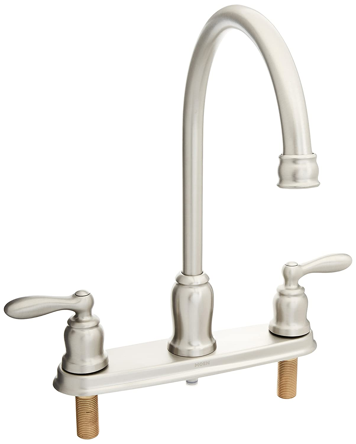 Moen CA87060SRS High-Arc Kitchen Faucet with Side Spray from the Caldwell Collection, Spot Resist Stainless