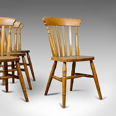 London Fine Antiques Juego de 4 sillas de Comedor Antiguas ...