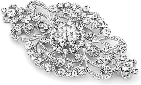 Luxury Crystal Brooch Enamel Pin Wedding Bridal Collar Pins Brooches Gift LA