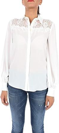 Liu-Jo f69035t9121 Camisa Mujer Lana Blanca 42: Amazon.es: Ropa y accesorios