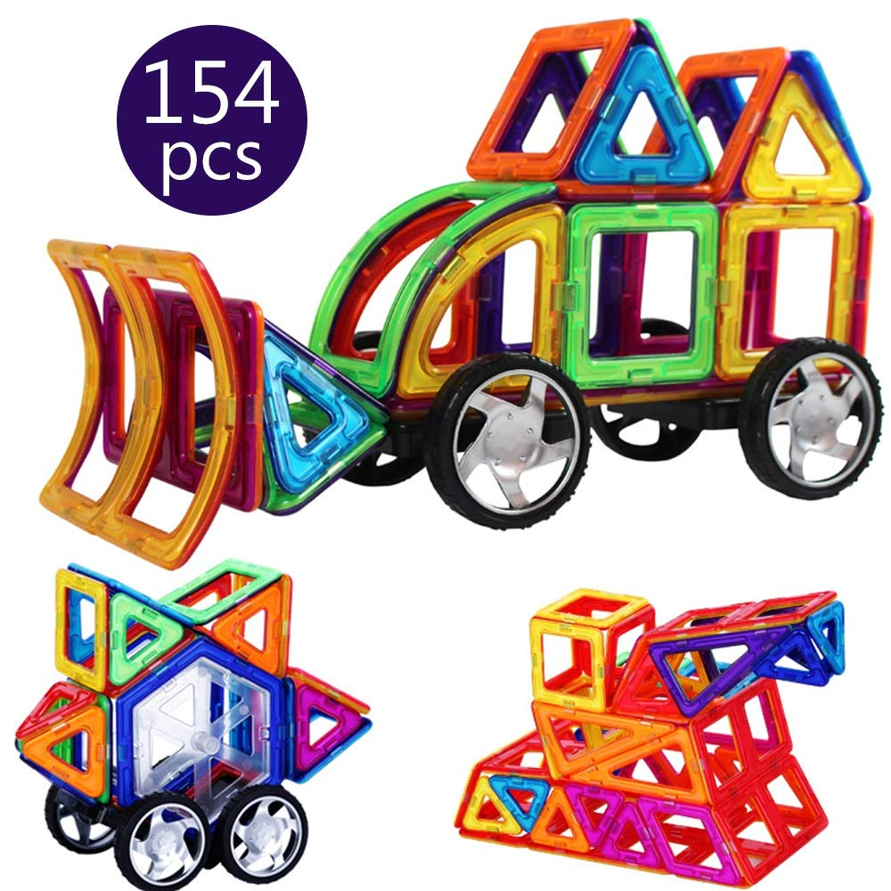 LCLZ Children's Puzzle Parent-Child Interaction Early Learning Educational Construction Building Blocks Magnetic DIY Assembled Creativity Playing Stacking Game for Boys&Girls Novelty