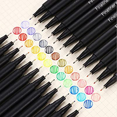 Weepo 12/24/36/48 Colorful Stroke Pens Set 0.4 mm Drawing Writing Stroke Markers Pen Set Stationery Supplies: Office Products