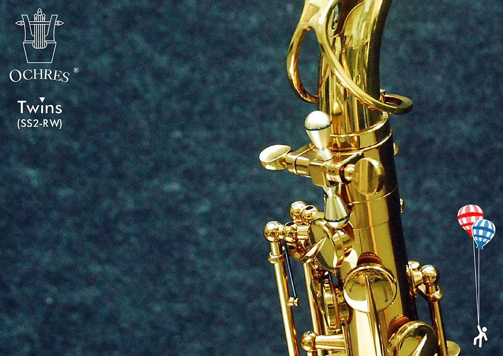 Ochres Music SS2-RW TWINS Saxophone Sonar Screw Sax Neck Screw Raw Copper
