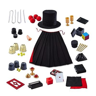 FAO SCHWARZ Premium Magic Trick Set 39 Piece - 300 Trick Magician's Bundle For Children - Includes Card Decks, Coin Tricks, Handkerchiefs, Top Hat, Cape, & More - Gift Idea for Kids Ages 8+: Toys & Games