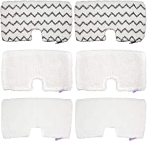 Extolife 6 Pack Washable Steam Mop Replacement Pads for Shark Steam Pocket Mops S3501 S3601 S3550 S3801 S3901 S3601D S3801CO S3901D S3455K S2902 SE450