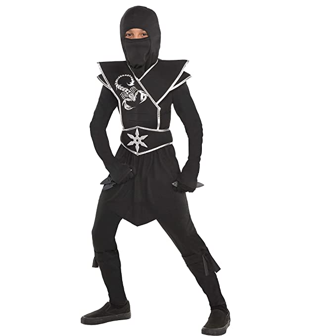 Amazon.com: Suit Yourself Black Ops Ninja Costume for Boys ...