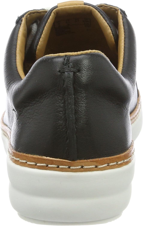 Clarks Dames Amberlee Rosa Lage Top Sneakers zwart (black leather)