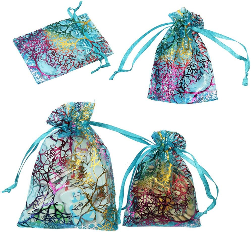 100PCS Pretty Pattern Gift Bag Plastic Jewelry Bag Party Wedding For Sale TO