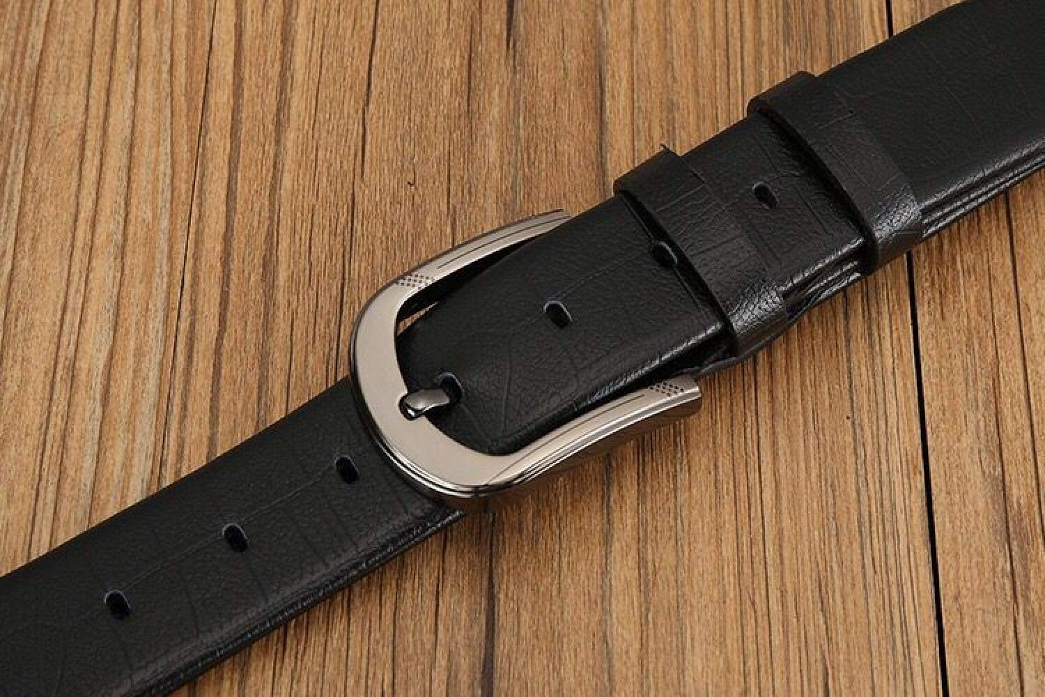 XQY Casual Alloy pin Buckle Belt Gift Belt Mens Belt Fashion Belt Mens Faux Leather Microfiber Belt