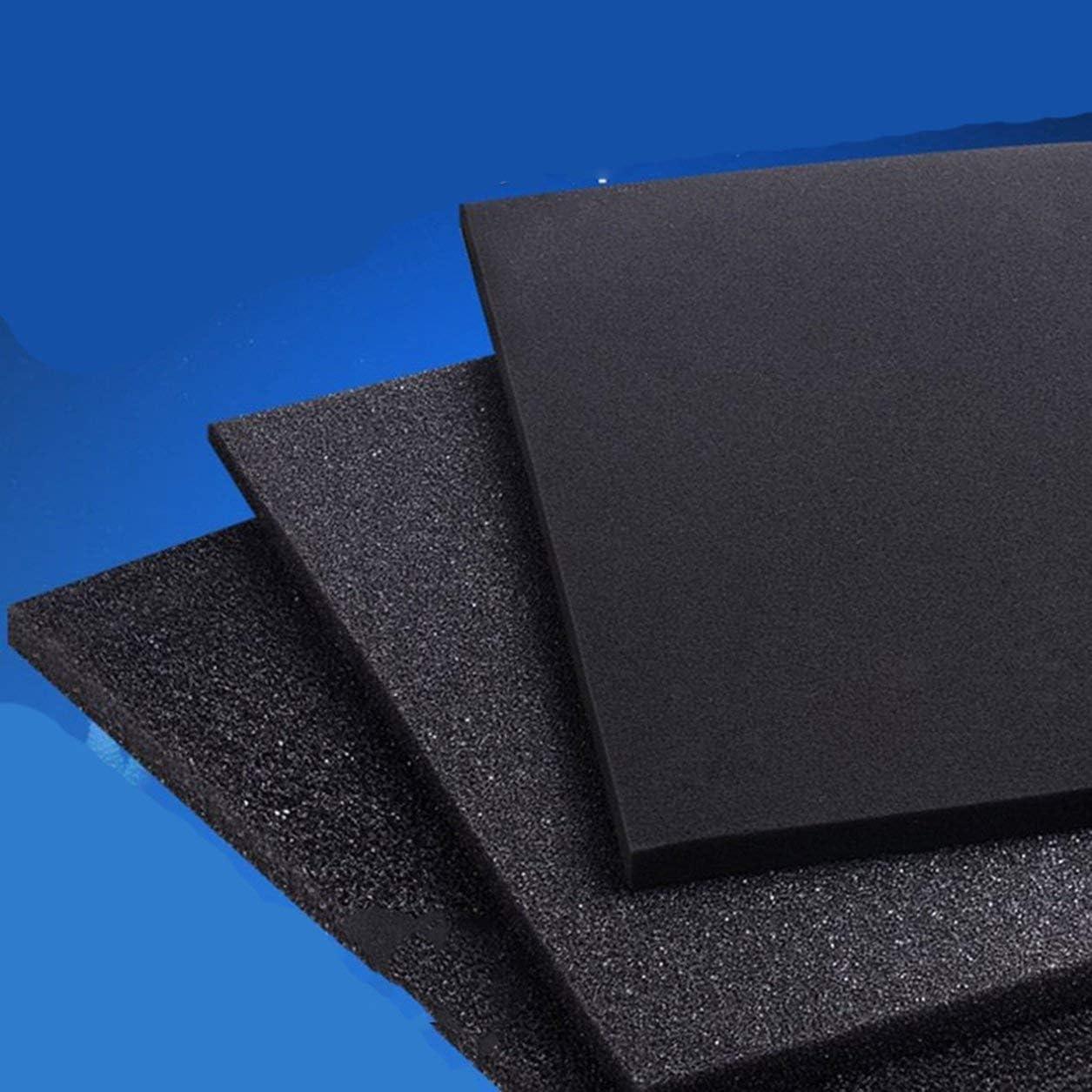 Dailyinshop R/éservoir de Poissons daquarium en Mousse Noire Universelle Filtre Filtre biochimique Design l/éger et de Douceur Taille: 50x12x2cm Couleur: Noir