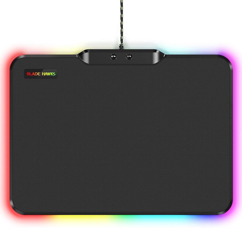 Gaming Mauspad Dauerhaft Mittel USB Gaming Mau Mat f/ür Computer BLADE HAWKS RGB Mousepad mit 9 Beleuchtungs Modi 35,6 x 10,5 x 0,5 cm