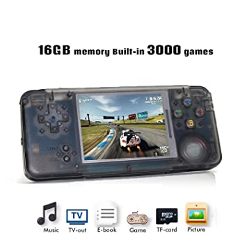 YLM Handheld Game Console, Retro TV Game Console 3 Inch HD Screen 3000  Classic Game Console , Entertainment System Portable Video Game Great Gift  for