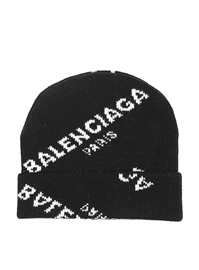 a677266f Balenciaga Women's 479920T13801070 Black Wool Hat: Amazon.co.uk: Clothing