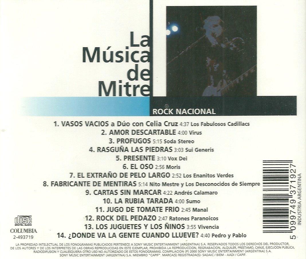 Varios Artistas - La Musica De Mitre:Rock Nacional - Amazon ...