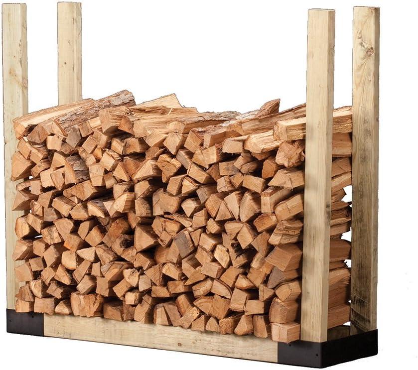 Shelter SLRA Adjustable Length Firewood Storage Log Rack//Holder Kit Black Adj Powder Coated Heavy Duty 1.25 Tubular Steel L x 13 D x 45 H