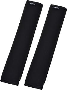 """COSMOS 2 PCS 12"""" Black Comfort Shoulder Strap Pads for Laptop Bag, Sport Bag, Travel Bag"""