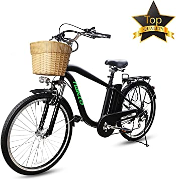 BRIGHT GG Camel Bicicleta Eléctrica Shimano 6 Velocidades Ebike ...