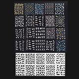 Anself 30 pcs 3D Stickers autocollant d'ongle décoration d'ongle Nail Art couleur mixte accessoire pour Manucure