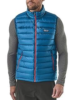 ed0c0dcb5003 Patagonia Vest Down Sweater Blue Men  Amazon.co.uk  Clothing