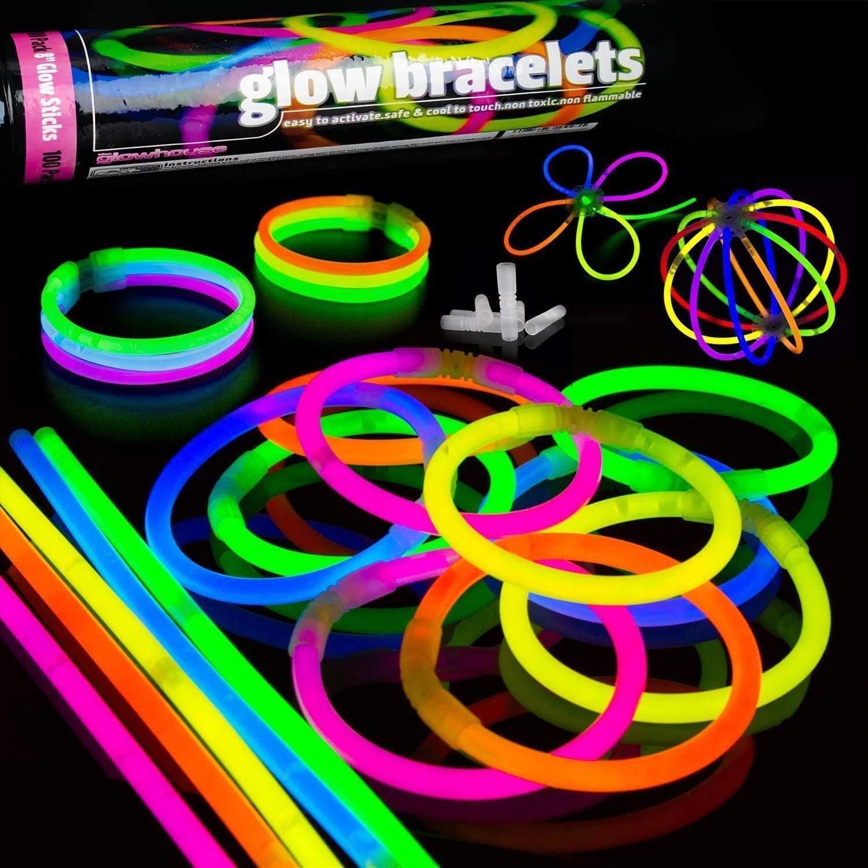 The Glowhouse 100 Premium Glow Sticks Mega Party Pack Glow Sticks Kit Make  Bracelets, Necklaces, Halos, Balls, Chains and Flowers UK Brand:  Amazon.co.uk: Toys & Games