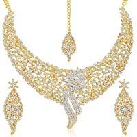 Sukkhi Wedding Jewellery Choker Necklace for Women (Golden)(2103NADM2150-AMZ)