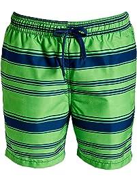 e558553794 Kanu Surf Mens Haze Stripe Volley Swim Trunk Swim Trunks