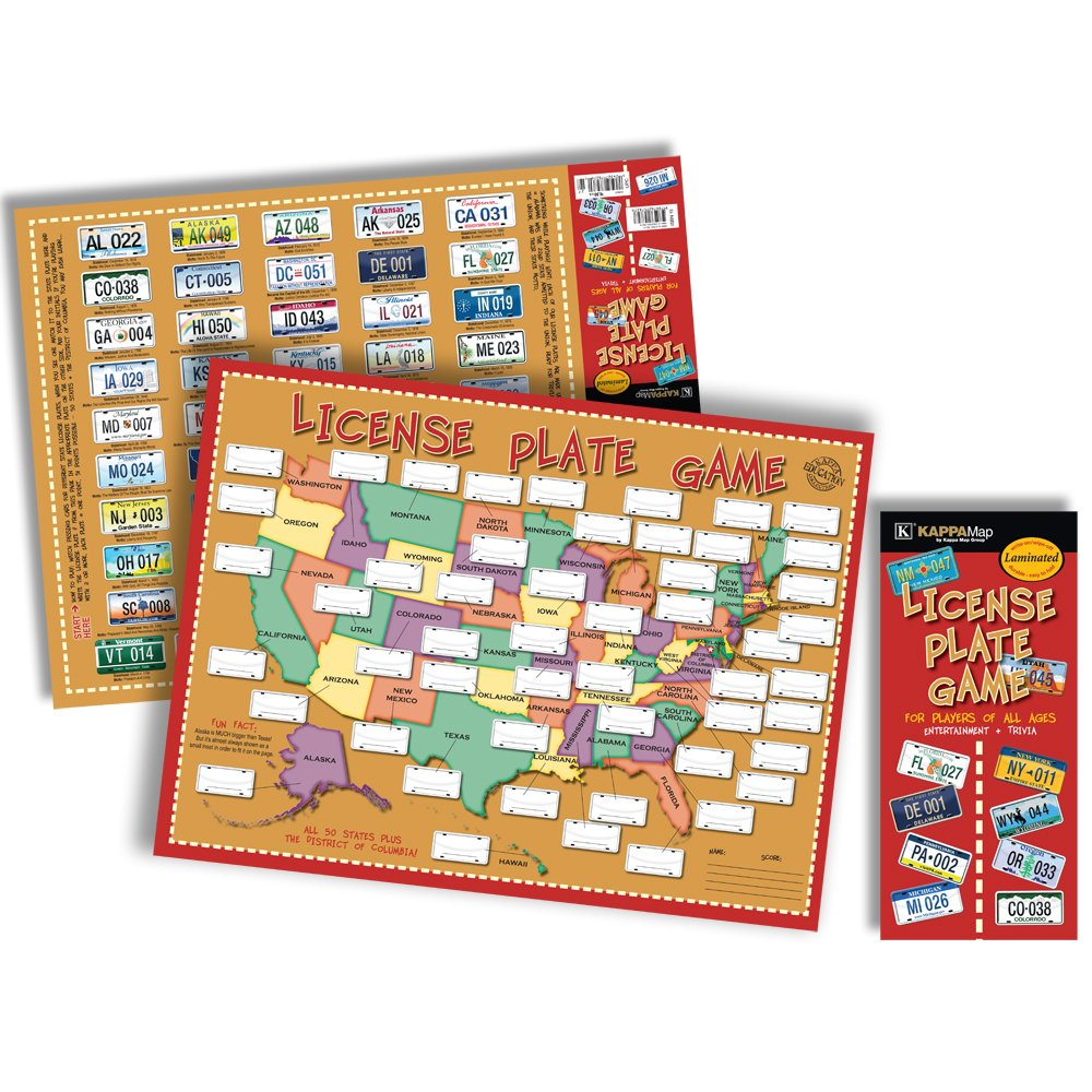 License Plate Game Kappa Map Group Amazoncom Books - Us map license plate puzzle