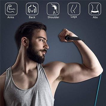 Ejercicio bandas de resistencia Stretch – elástico Fitness Home entrenamiento equipo para hombres mujeres personas mayores | Kit de entrenamiento para ...