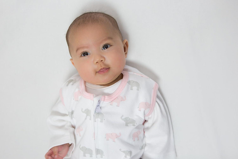 Amazing Baby by SwaddleDesigns Saquito de dormir de algod/ón con cremallera de 2 v/ías