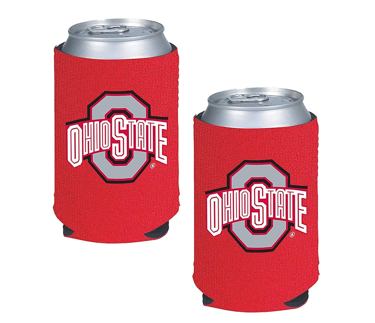 NCAA Fan Shop Authentic 2-Pack Insulated 350ml Can Cooler. Show School Pride at Home, Tailgating or at a Game. Great for Students, Alumni or Fans. (Ohio State Buckeyes)   B07H8P64QX