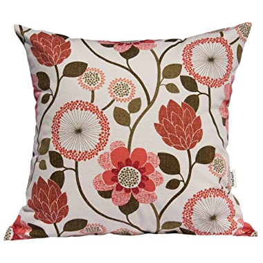 TangDepot174; 100% Cotton Floral/Flower Printcloth Decorative Throw Pillow Covers/Handmade Pillow Shams - Many Colors, Sizes Avaliable - (18 x18 , S34 Flowers)
