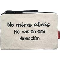 Hello-Bags Bolso Neceser/Cartera de Mano, Algodón 100%, con Cremallera y Forro Interior, Incluye sobre Kraft de Regalo…