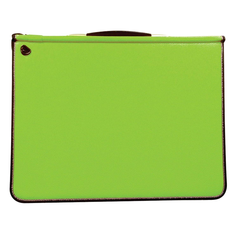 Artcare 15483040Cartelletta, formato A3, 46x 5x 36cm, materiale sintetico, con 5tasche, colore lime Mapac