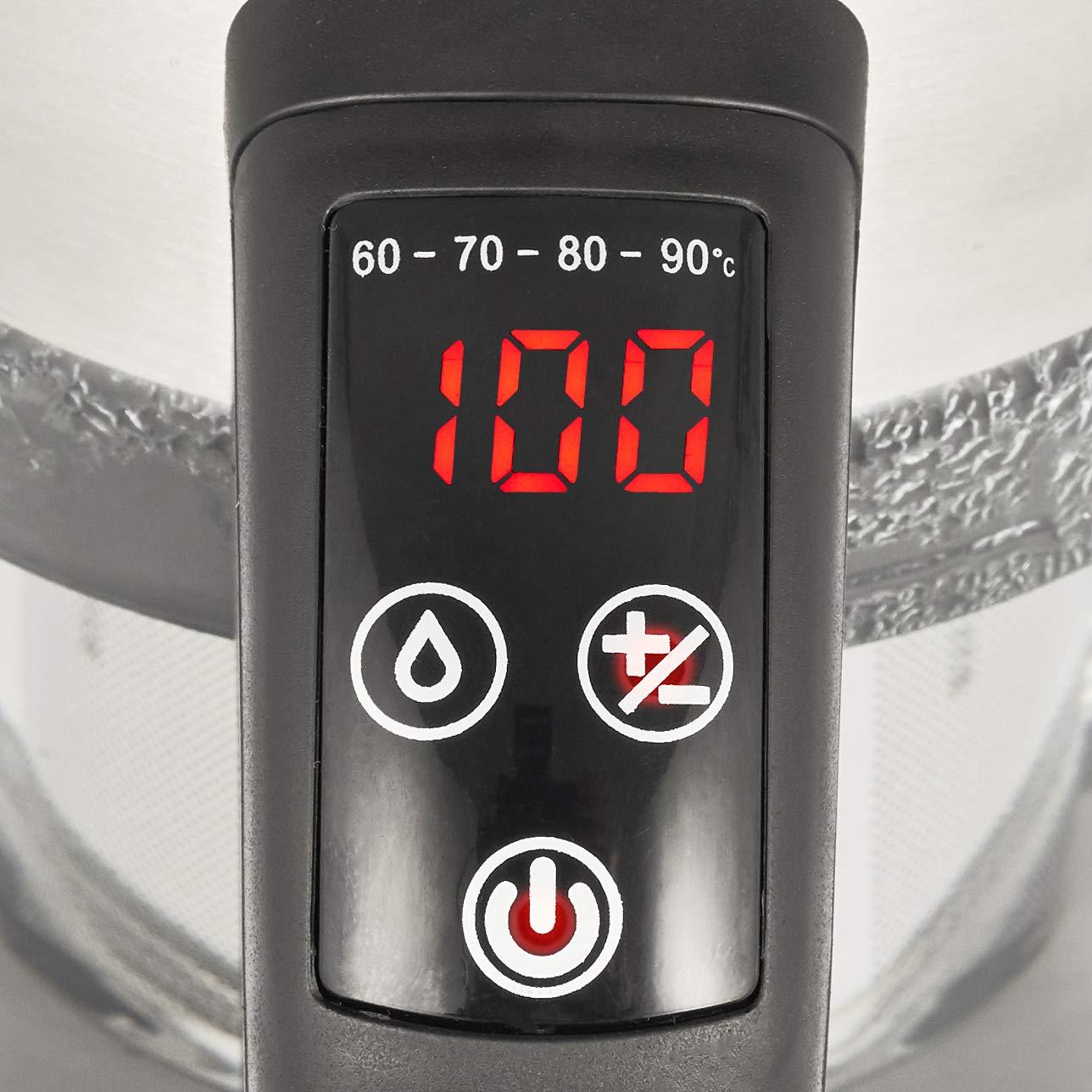 Balter WK de 3 LCD Hervidor de agua con filtro de té ✓ Selección de temperatura 60 - 100 C ° con función de mantenimiento en caliente Decoración de acero ...
