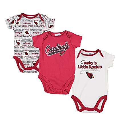 buy online 32893 b72a8 Arizona Cardinals NFL Unisex Baby Infant 3 Piece Bodysuit Set, Red and White