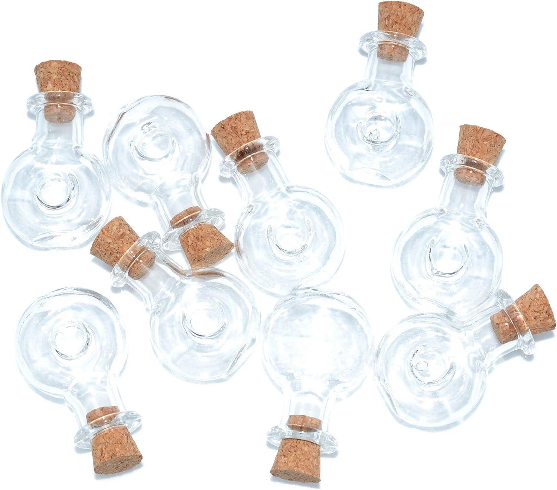 2ml Small Mini Glass Bottles Jars with Cork Stoppers.Wishing Bottle Drifting Bottle Wedding Party DIY Etc. B-20Pcs
