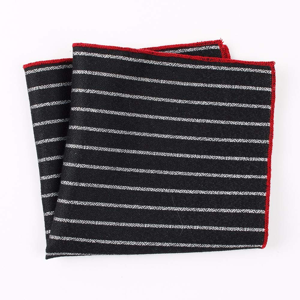 Yevison Senior Men's Handkerchief Cotton Striped Printed Pocket Towel Fashion Casual Dress Suit Pocket Square Towel 24x24cm