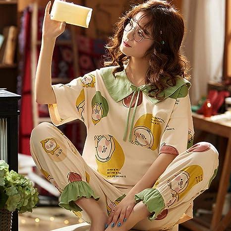 YHWW Ropa de Dormir Ocio Algodón Pijamas para Mujeres ...