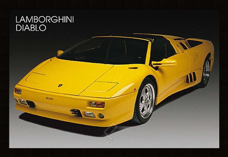 Amazon.com: LAMBORGHINI DIABLO Sports Car art FRAMED POSTER - 27x39 ...