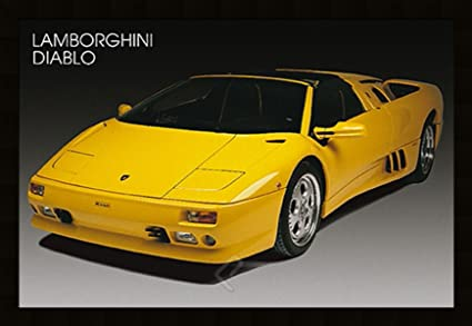 Amazon Com Lamborghini Diablo Sports Car Art Framed Poster 27x39