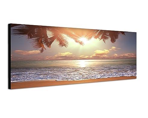 Amazon.de: 120x40cm Bild auf Leinwand und Keilrahmen fertig zum ...