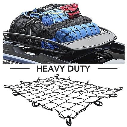 Cargo Net -Heavy Duty Truck Bed Net Auto Roof Tie-Down Net - Bungee Cord  48