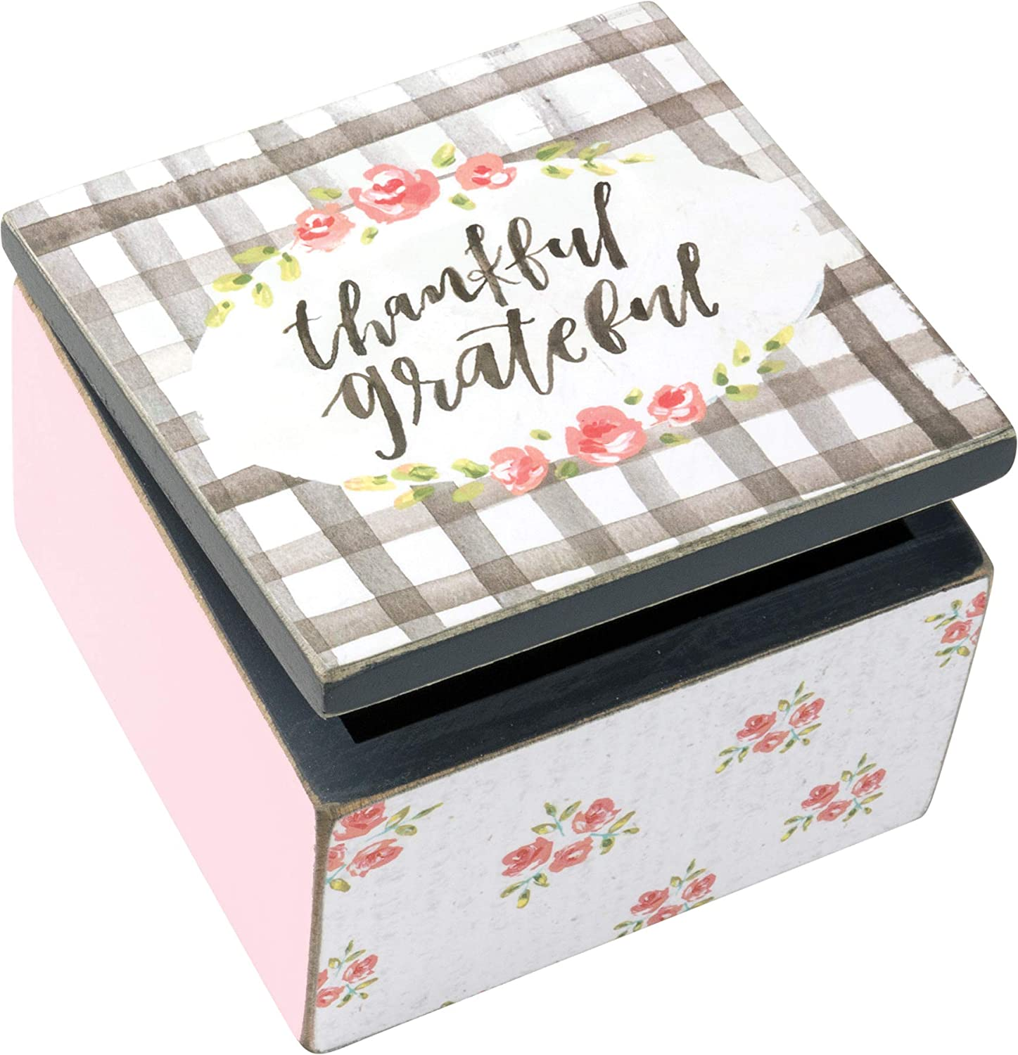 Primitives by Kathy Inspirational Hinged Box, Thankful Grateful