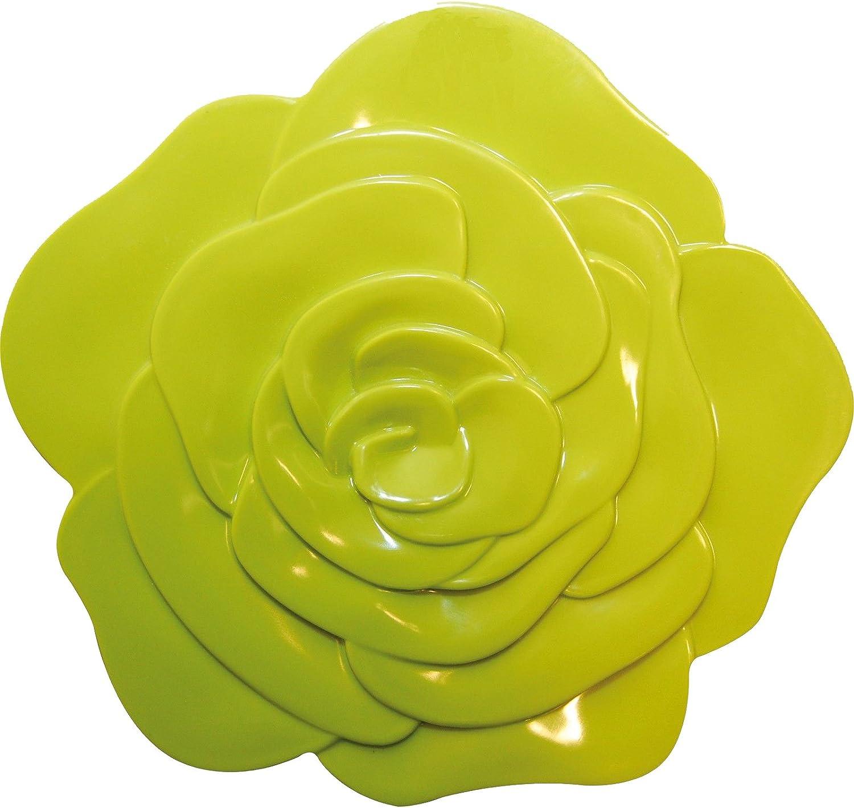 Verde ZAK Designs 0204-0901 Sottopiatto a Forma di Rosa Colore