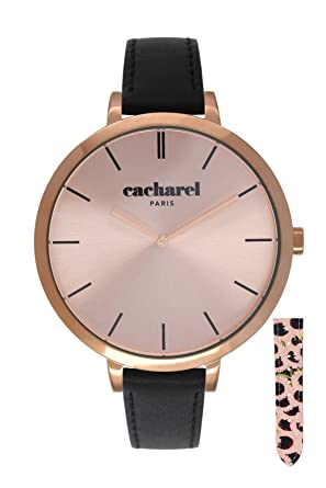 81f4a17d48 Cacharel - CLD 032/2TA - Montre Femme - Quartz Analogique - Cadran Rose -