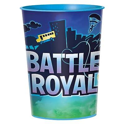 """Battle Royal"""" Blue Party Favor Plastic Cup 16 Oz.: Toys & Games,"""""""
